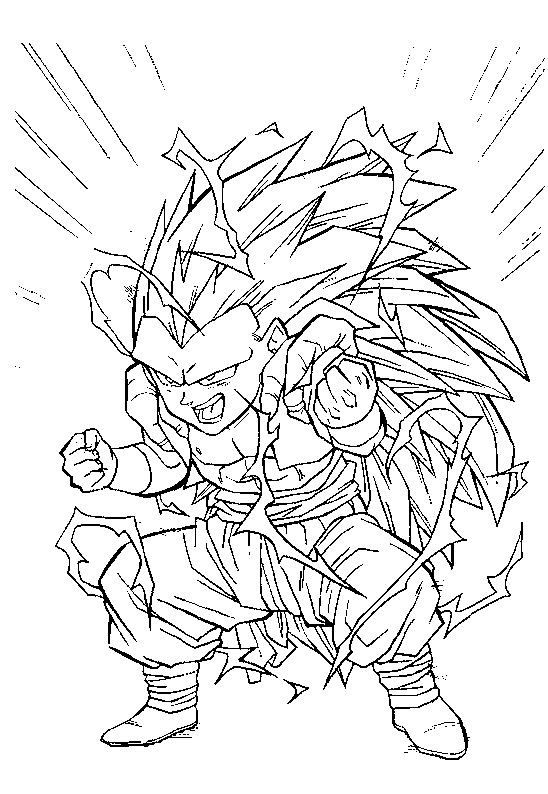 Coloriage de dragon ball z de sangohan - Dessin de dragon ball ...